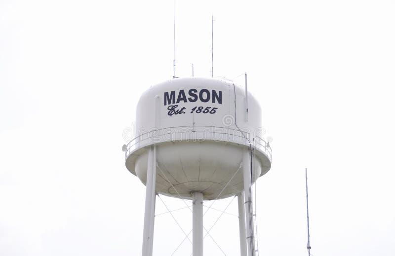 Mason Tennessee Water Tower Fayette County, TN royaltyfri bild