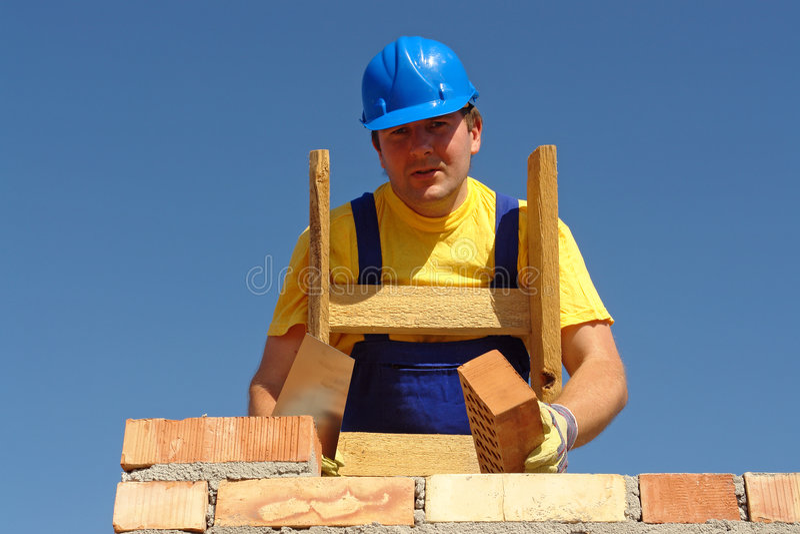 Download Mason at work stock image. Image of manual, industrial - 5662257