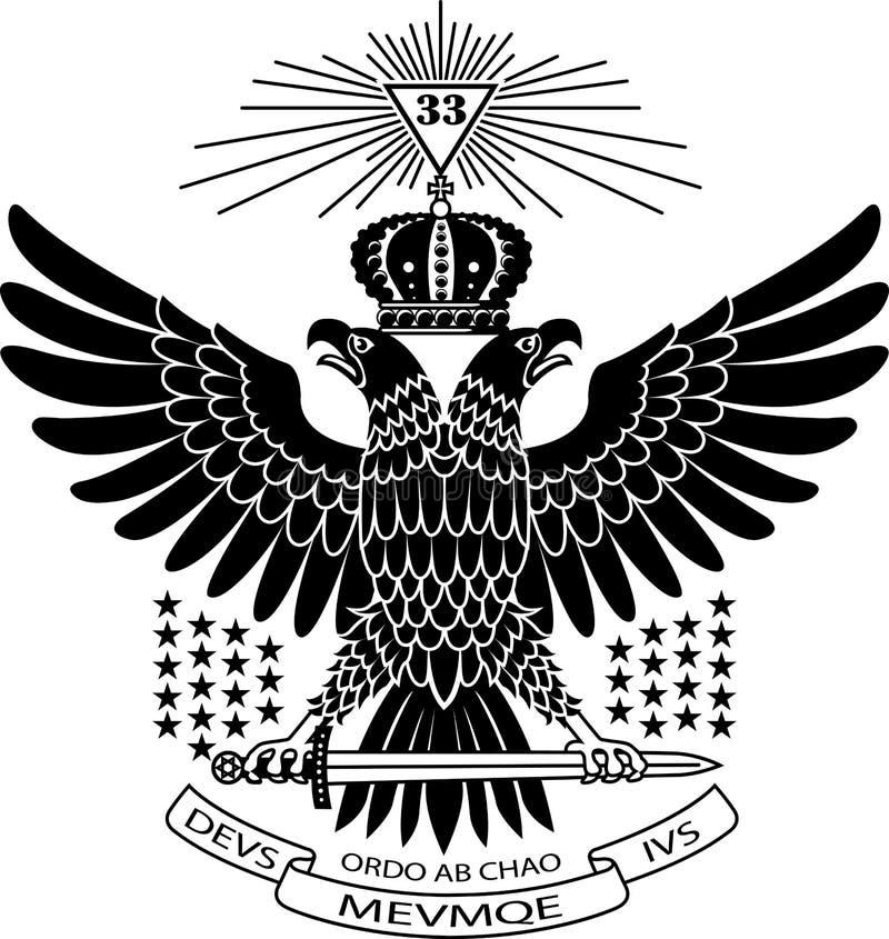 Masonic орел бесплатная иллюстрация