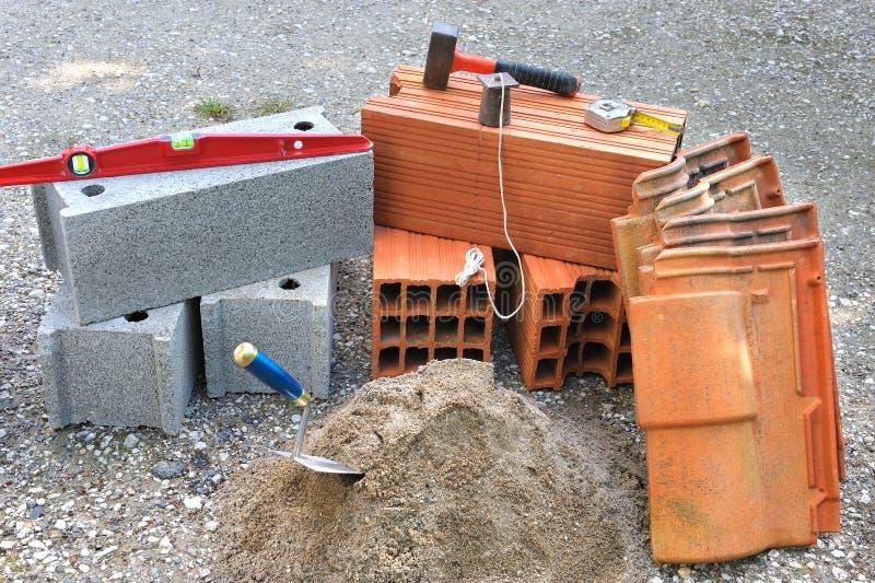 Download Masonry four stock image. Image of block, equipment, construction - 18455587