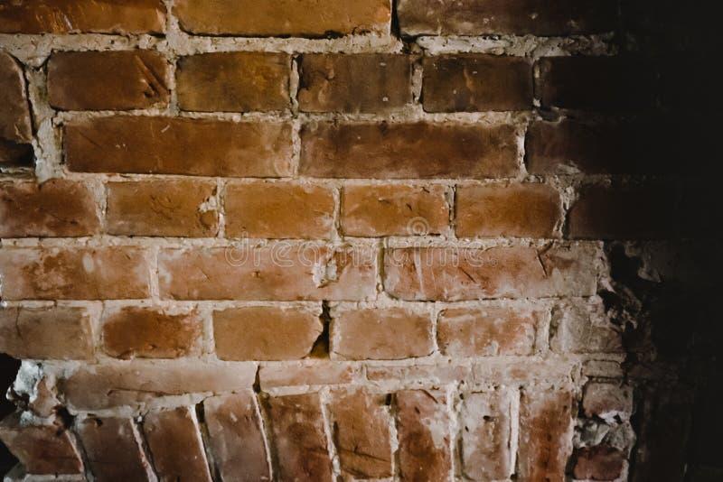 Masonry, gammal tegelvägg fotografering för bildbyråer