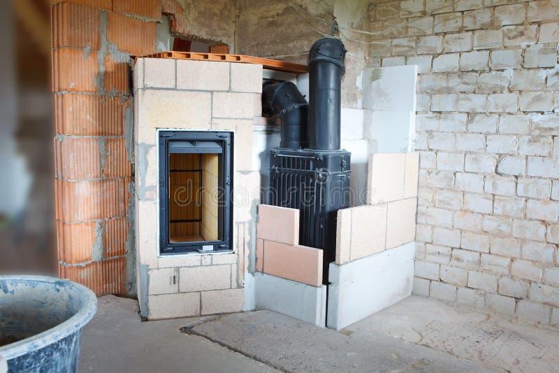Masonry stove stock photos