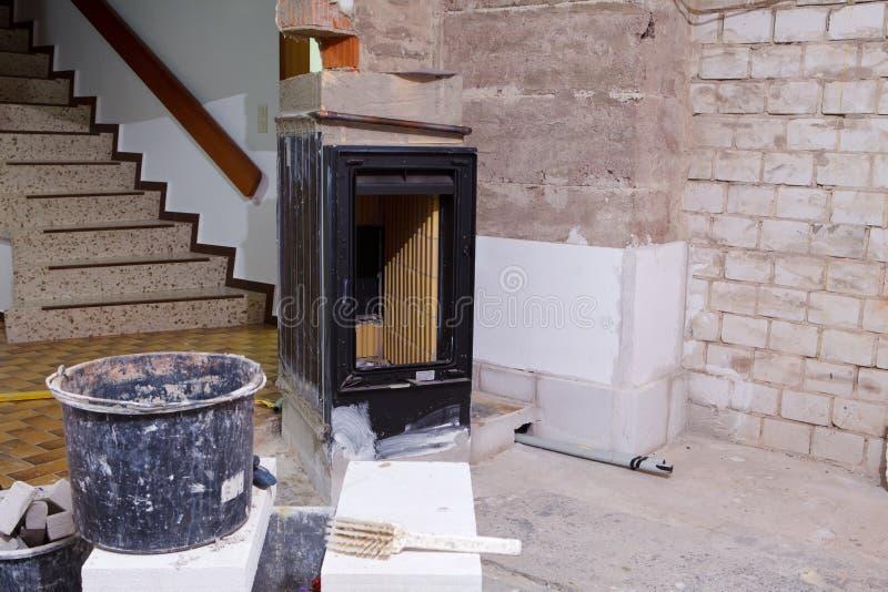 Masonry stove royalty free stock photo