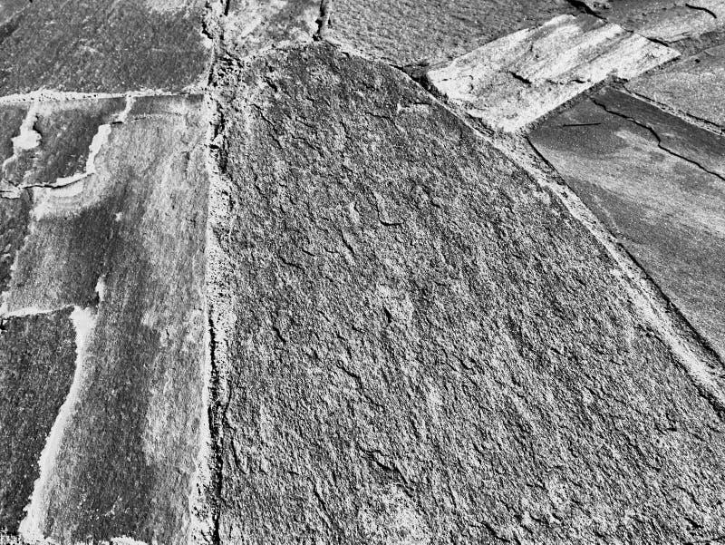 Masonry Strålytans struktur Bakgrund i svartvitt royaltyfria foton