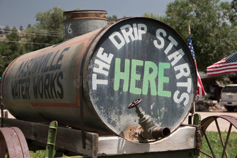 Masonville-Wasser-Lastwagen stockfoto
