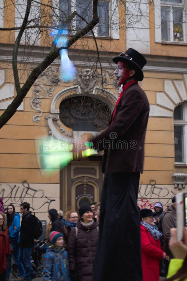 Masopust-Parade Zizkov 2017 stockbild