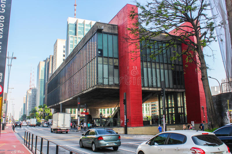 MASP, Μουσείο Τέχνης σε São Paulo στοκ εικόνα με δικαίωμα ελεύθερης χρήσης