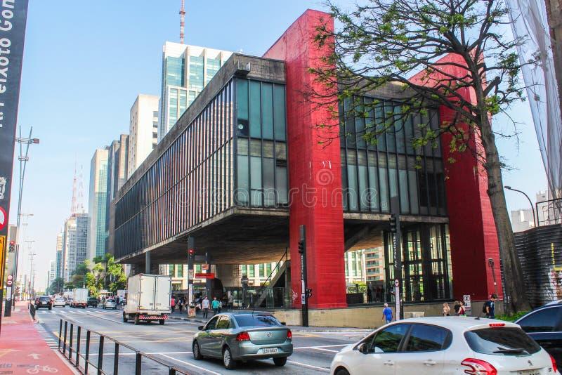 MASP, Kunstmuseum in São Paulo lizenzfreies stockbild