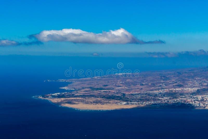 Maspalomas-Dünen von der Luft stockbild