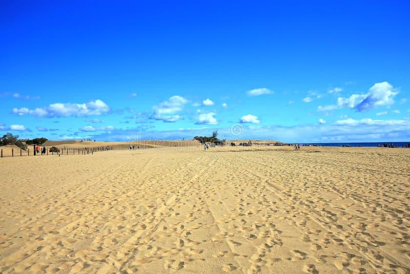 Maspalomas le dune di sabbia fotografia stock libera da diritti