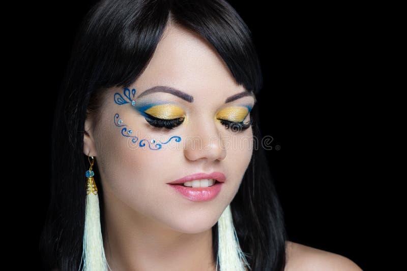Masque à jour de maquillage de fille photos libres de droits