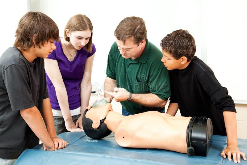 Masque à oxygène pour le CPR photographie stock