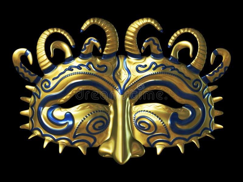 masque золота фантазии иллюстрация штока