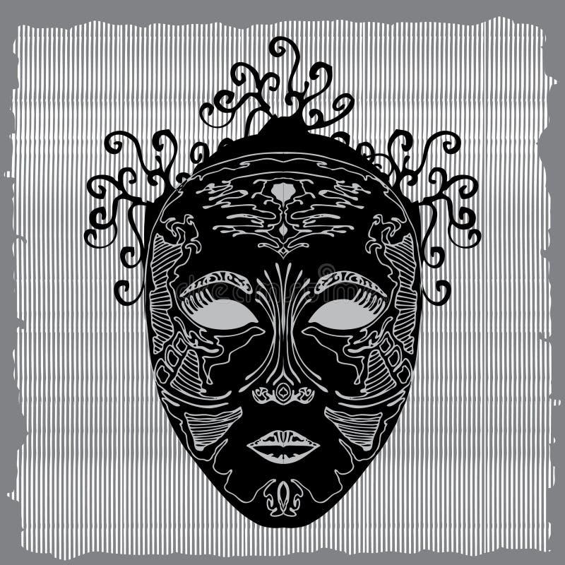 Masque ilustração royalty free