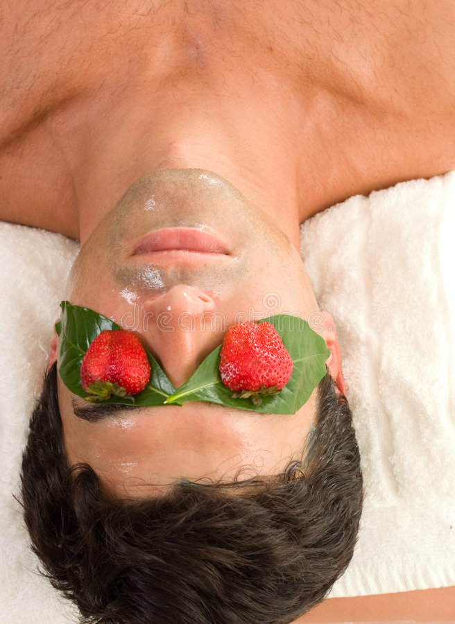 Masque acide de peau de fruit image stock