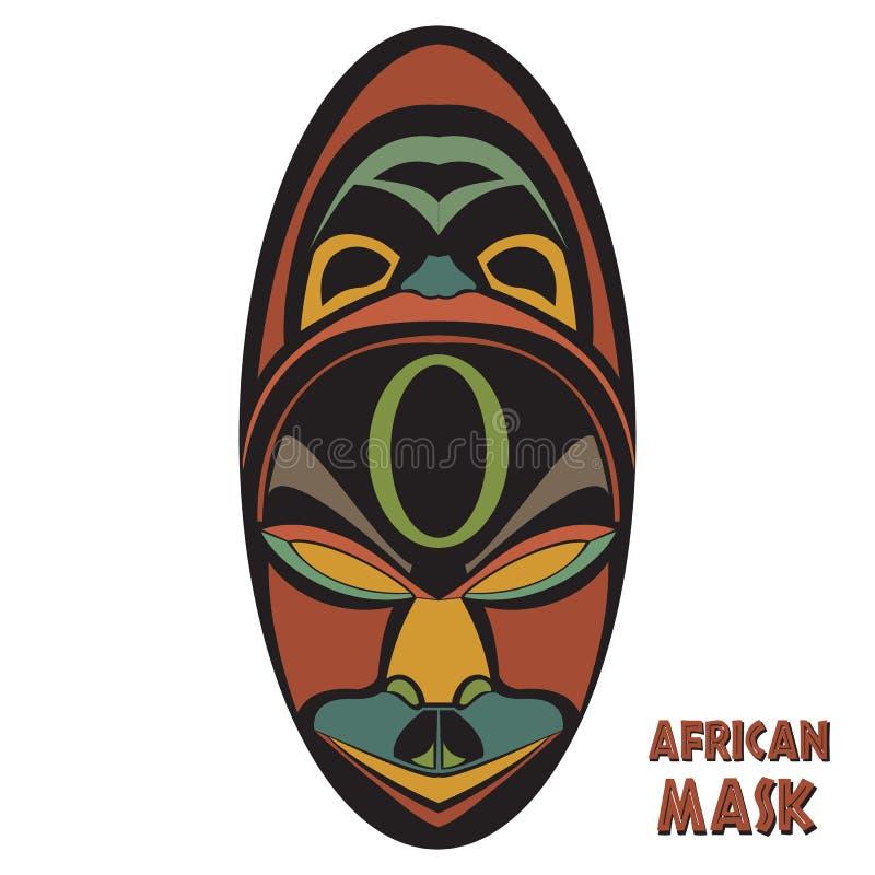 Masque africain ethnique illustration stock