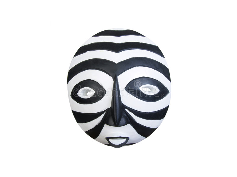 masque africain noir et blanc