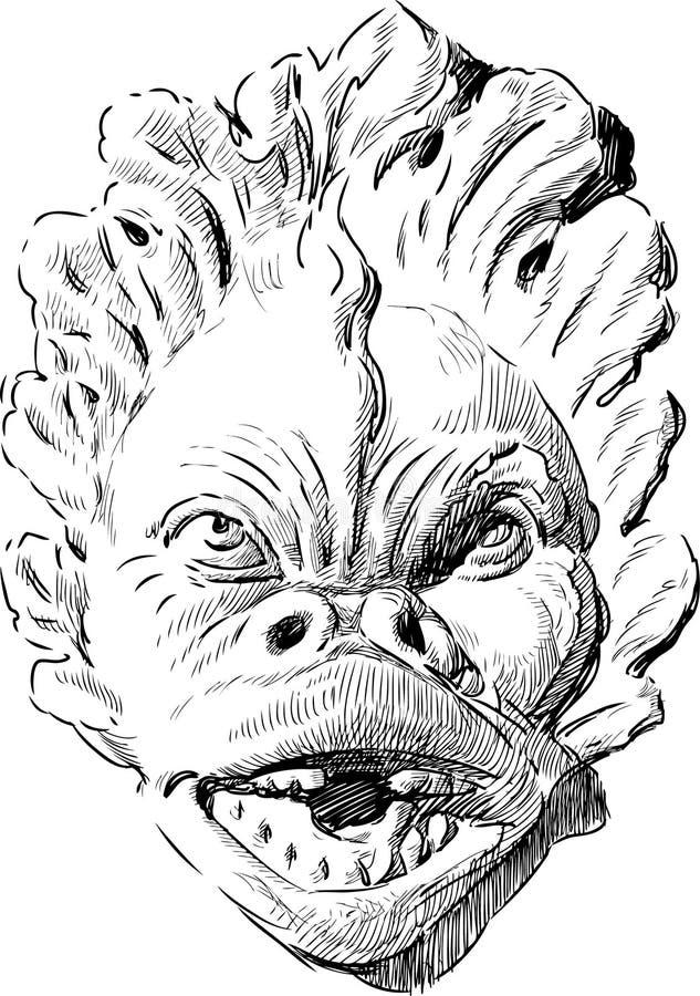 Masque antique illustration stock