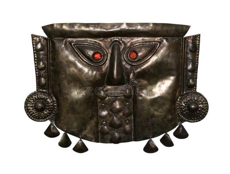 Masque antique d'inka avec le chemin photo libre de droits
