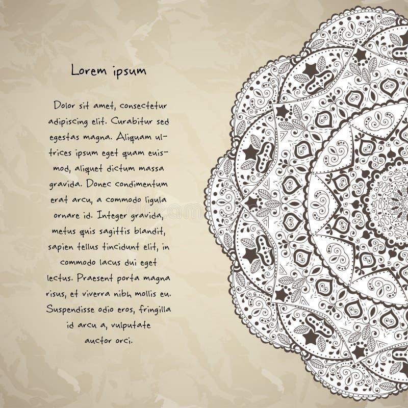 Masque backgroundclipping de mandala de fleur utilisé illustration stock