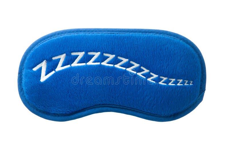 Masque bleu de sommeil avec le zzzzz de signe images libres de droits