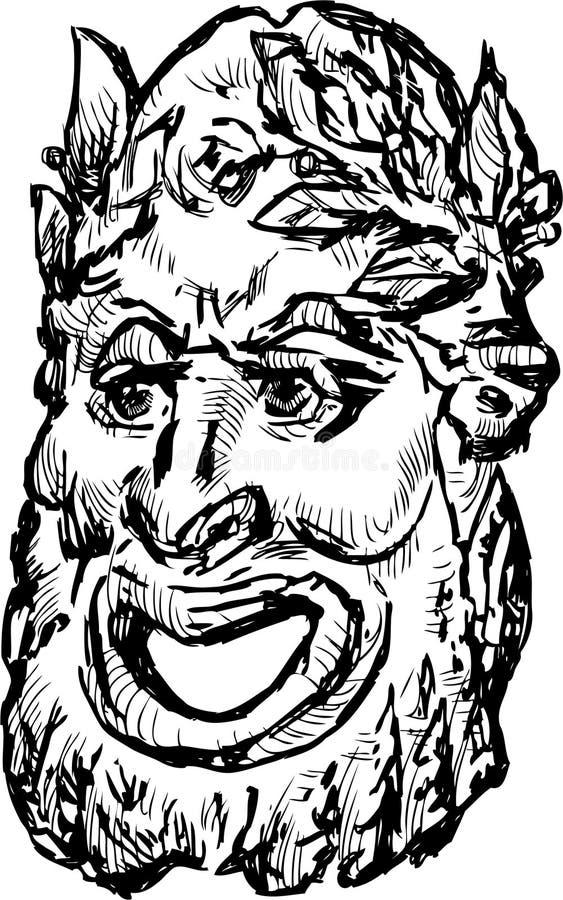 Masque classique de drame illustration de vecteur