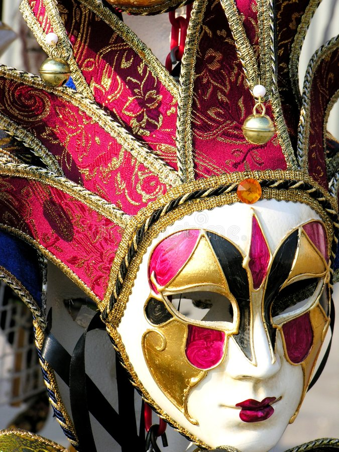 Masque coloré de carnaval photo stock