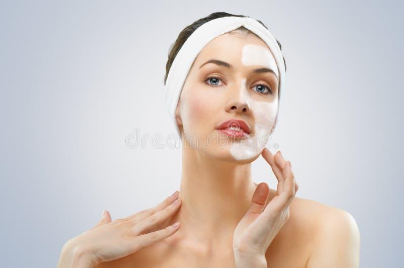 Masque cosmétique photos stock