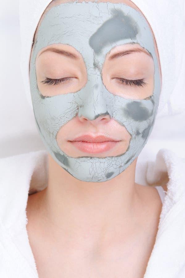 Masque cosmétique d'argile images stock