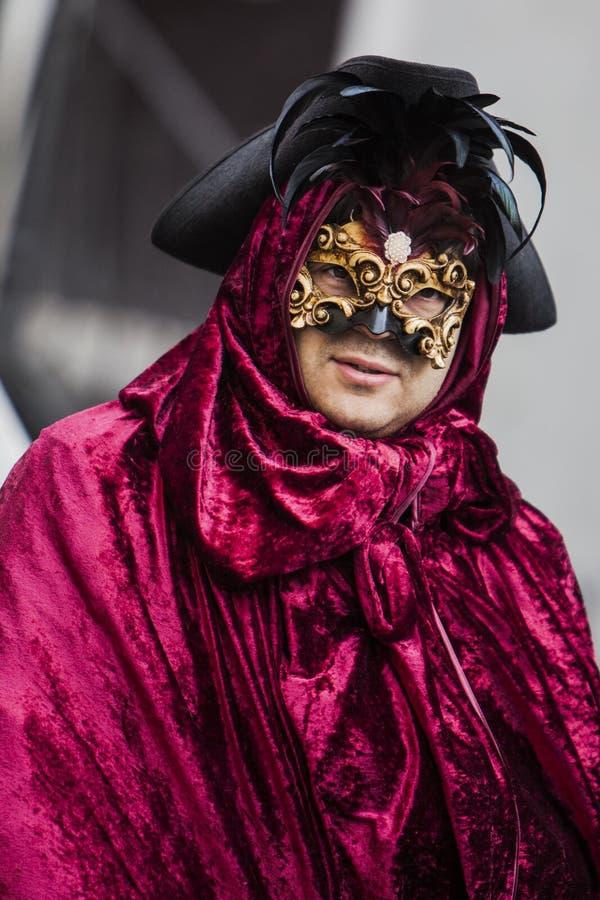 masque décoratif Venise de masque de carnaval noir image stock