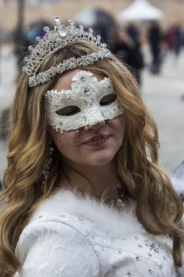 masque décoratif Venise de masque de carnaval noir image libre de droits