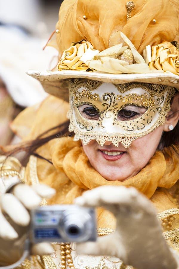masque décoratif Venise de masque de carnaval noir photo stock
