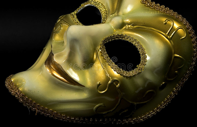 Masque d'or image stock