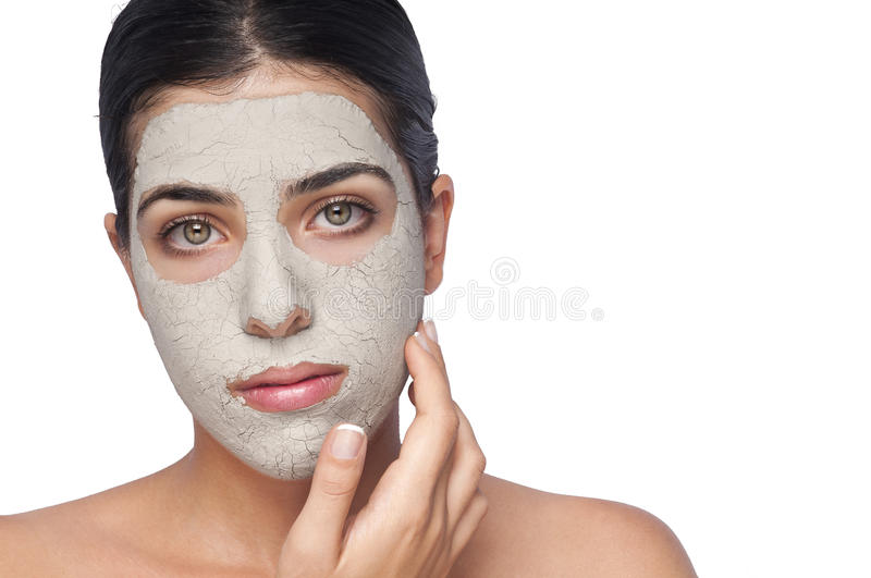 Masque d'argile image stock