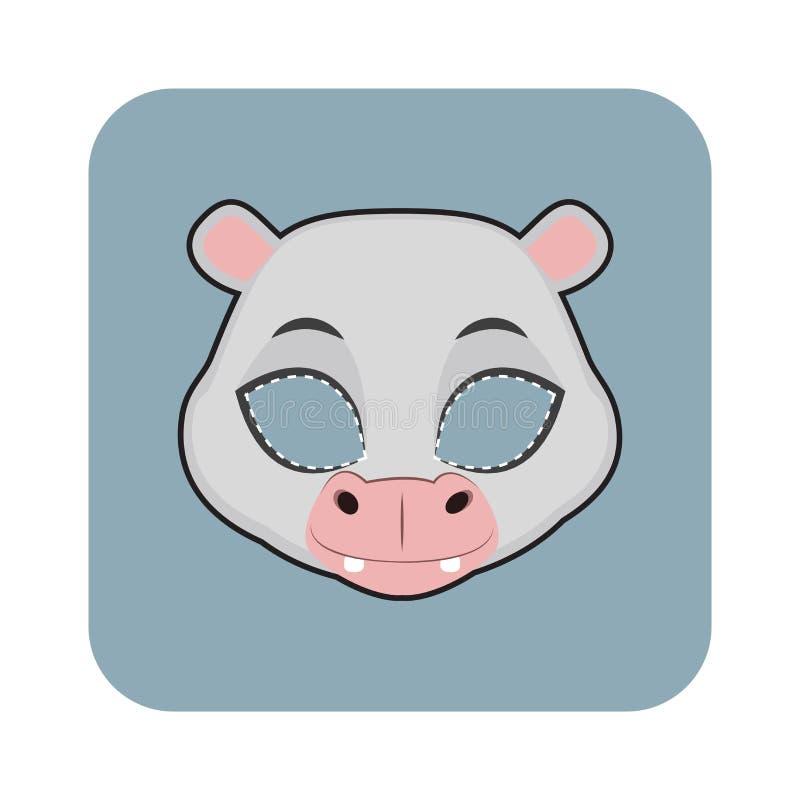 Masque d'hippopotame illustration stock