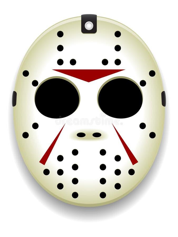 Masque d'hockey illustration stock