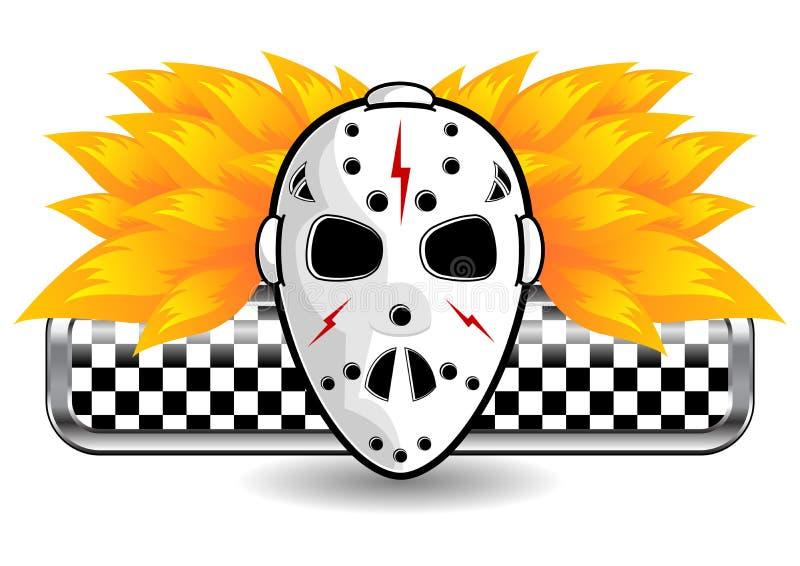 Masque d'hockey sur l'incendie illustration libre de droits