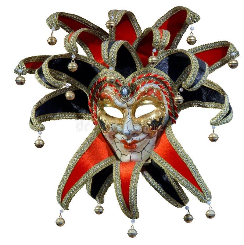 masque d'isolement de joker vénitien image stock