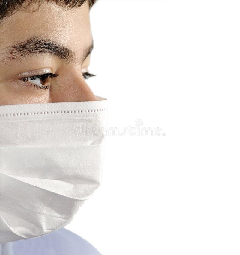 Masque d'isolement de virus image stock