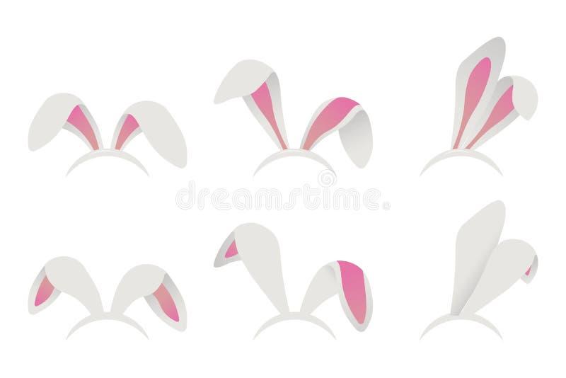 Masque d'oreilles de lapin de Pâques illustration de vecteur
