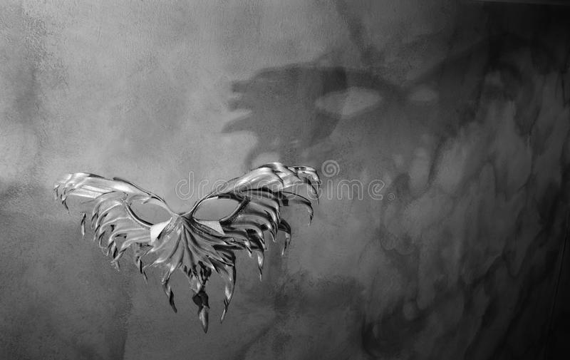 Masque dans les ombres et la lumière photo libre de droits