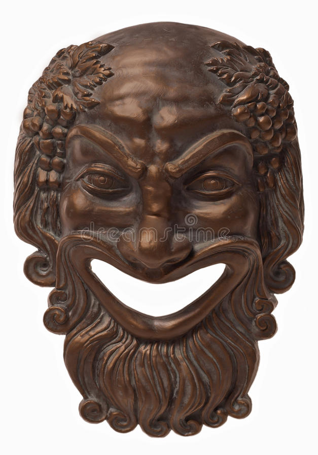 Masque de Bacchus photographie stock