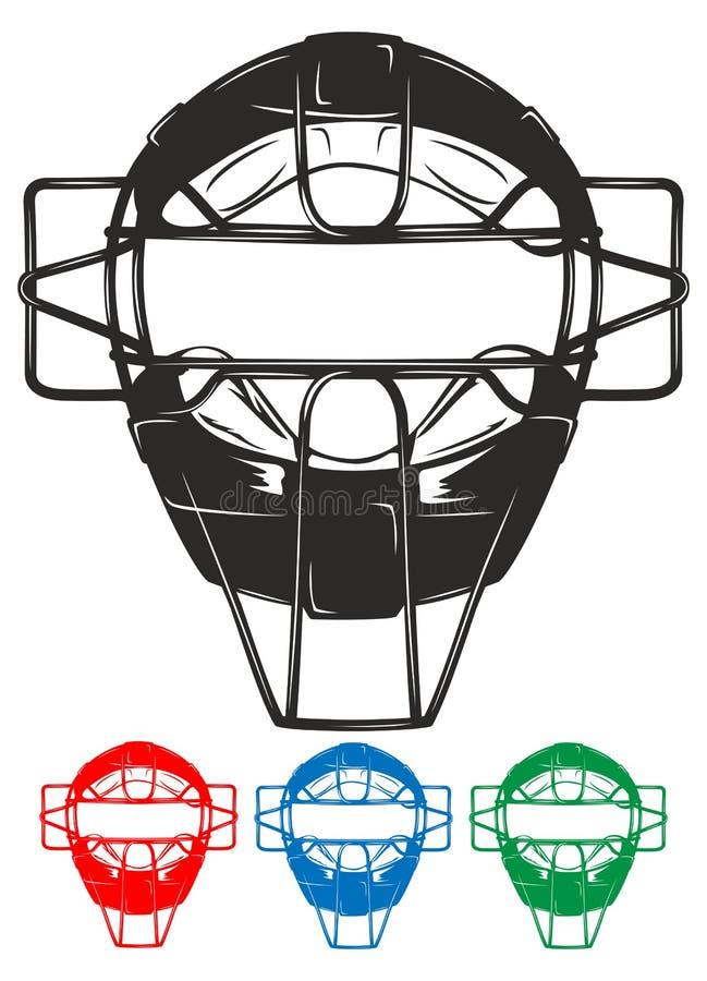 Masque de base-ball illustration de vecteur