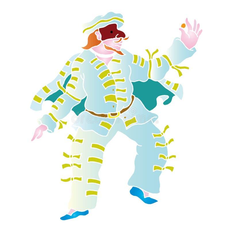 masque de brighella illustration de vecteur