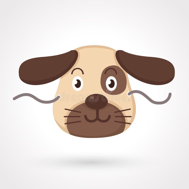Masque de chien illustration stock