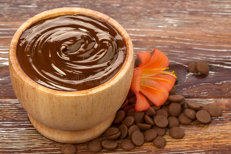 Masque de chocolat photo stock