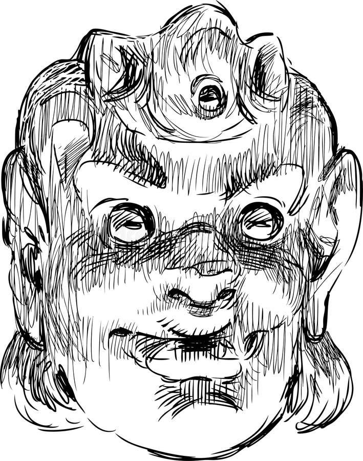 Masque de comédie illustration stock