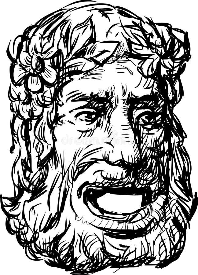 Masque de drame d'Ancientl illustration libre de droits