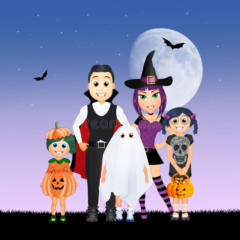 Masque de famille de Halloween illustration libre de droits