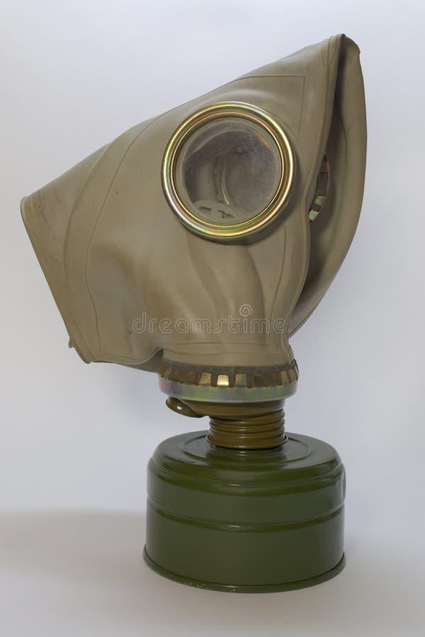 Masque de gaz à filtre soviétique militaire image libre de droits